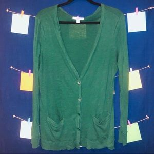 🦚Forest Green American Eagle Button Cardigan🦚